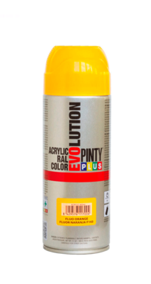 PINTURA SPRAY EVOLUTION FLUORESCENTE ROJO 400ML